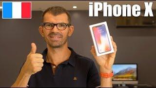 J'ai AUSSI acheté l'iPhone X d'Apple - Unboxing déballage nouveautés mon avis Face ID Fr