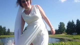 Свадебная фотосессия на берегу. Я опять невеста. Испортила платье.