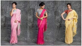 Latest Embroidery Saree Collection | New Embroidery Silk Saree Collection