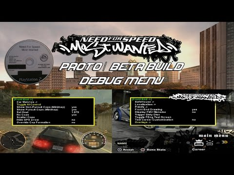 Proto:Need for Speed: Most Wanted (2005) - The Cutting Room