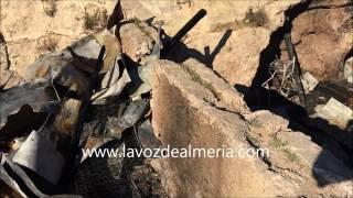Imágenes de la cueva donde se produjo el incendio en La Molineta
