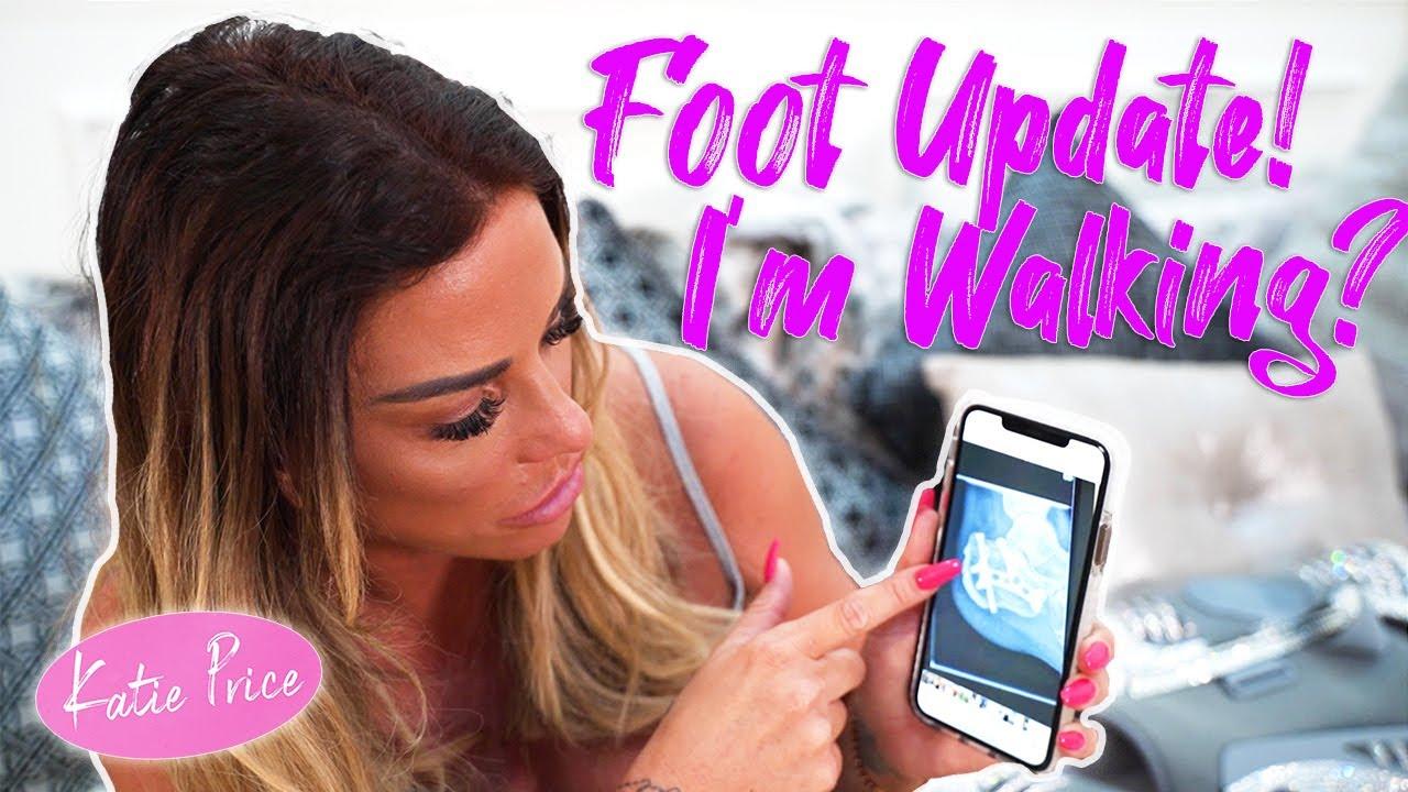 KATIE PRICE: FOOT UPDATE, WALKING AGAIN???