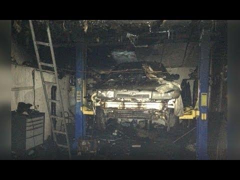 АТН Харьков: На Салтовке горел гаражный кооператив. Пострадало три автомобиля - 12.12.2019