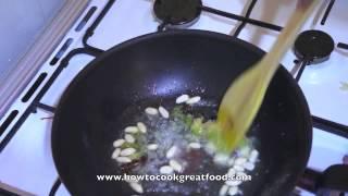 Asian Food - Tofu & Bamboo Shoots In Hoi Sin Sauce Stir Fry Hoisin Chinese