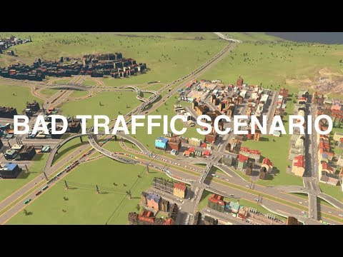 How I BEAT the traffic scenario | Cities:Skylines | Town Planner Plays