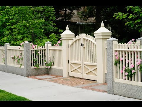 Modern Decorative Backyard Garden Wooden Fence Design