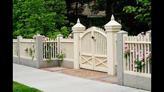 Gambar cover Modern Decorative Backyard Garden Wooden Fence Design Ideas