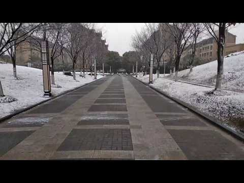Snow fall in Shanghai University of Political Science and Law 2018 (Part 2)