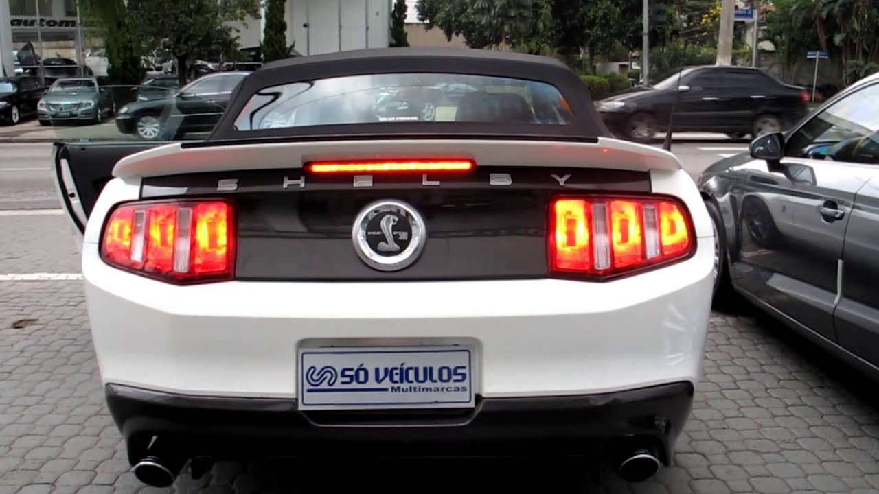 Ford Mustang Shelby Gt500 Conversivel Exhaust sound Só ...
