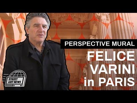Felice Varini - New Geometric Perspective Mural - Paris, France - Grand Palais (French)