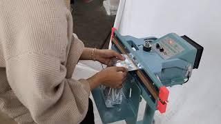 고성능 스탠드형 수직실링기 페달형 비닐 접착기