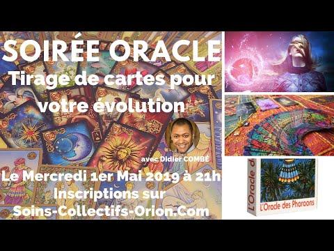 Soirée Oracle - Tirage et interprétation de cartes pour votre évolution le 1er Mai 2019 à 21h