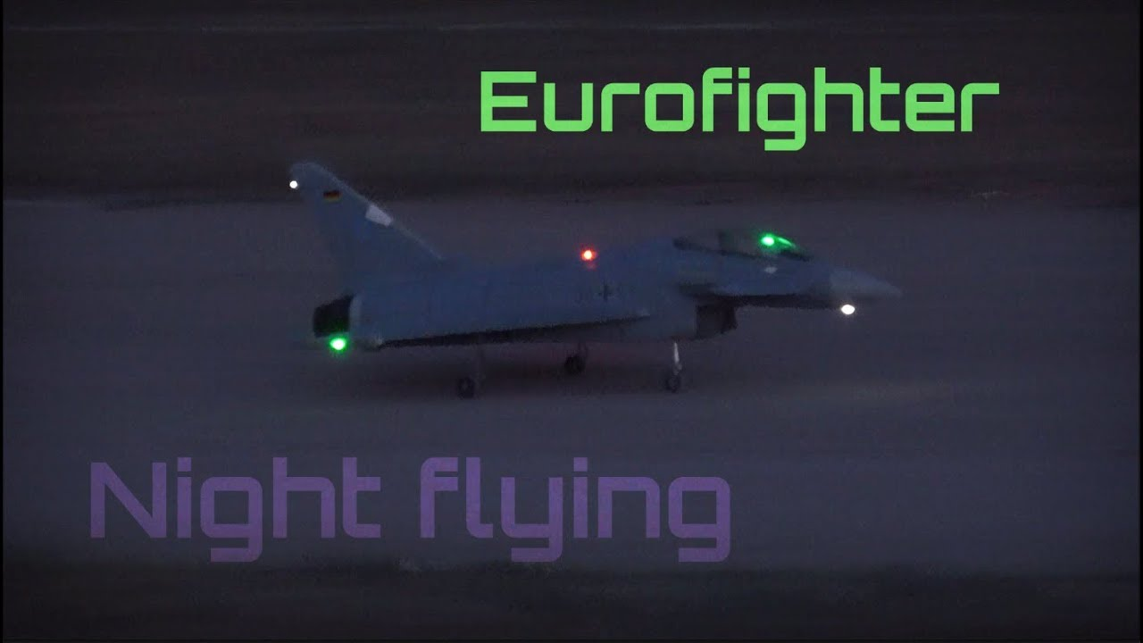 Eurofighter Semi-Nocturnal Flight Show - HD 50fps