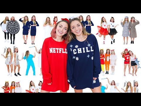 10 Easy BEST FRIEND or COLLEGE ROOMMATE Halloween Costumes |