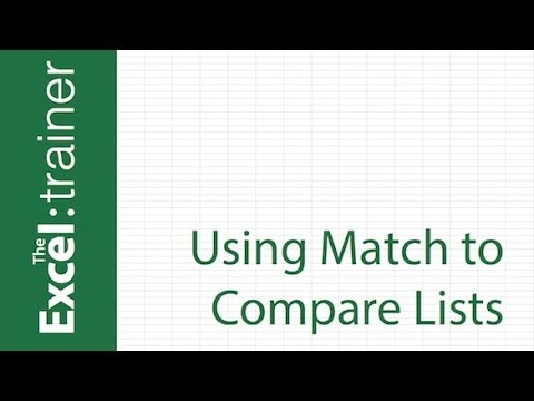 Excel : How to Compare Two Columns - YouTube