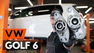 aizmugurē un priekšā Amortizatoru Atbalsta Gultņi uzstādīšana VW GOLF VI (5K1): bezmaksas video