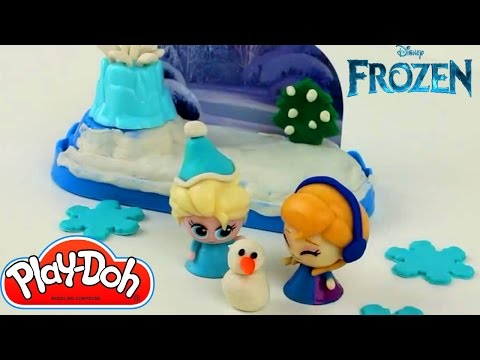 Disney Frozen Princess Elsa & Ice Castle PLAY DOH Awesome Plasticine Creation 2016