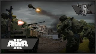 40v40 Players City PvP - ArmA 3 - RHS King of the Hill Multiplayer Gameplay