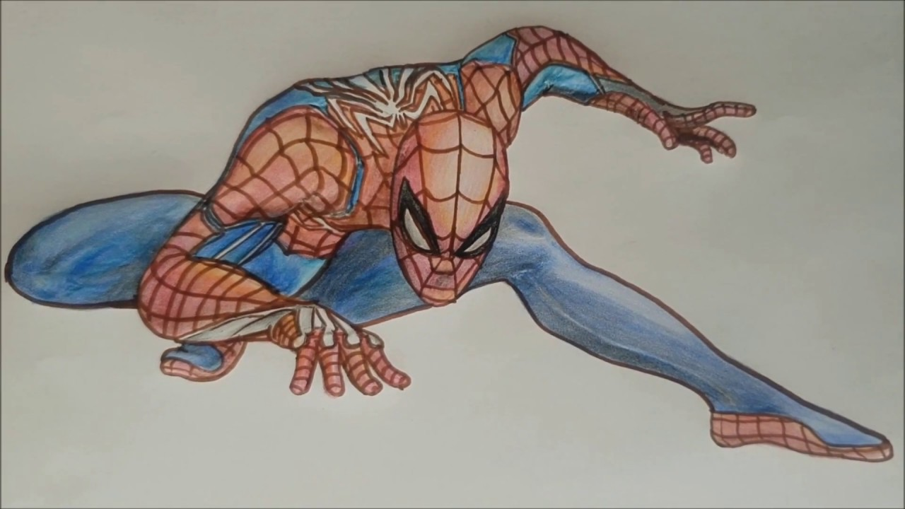 Dessin Coloriage Spiderman Super Heros Youtube
