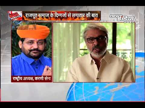 "News India पर फिल्म "" PADMAVATI ' को लेकर SUKHDEV SINGH GOGAMEDI ने क्या कहा ..."