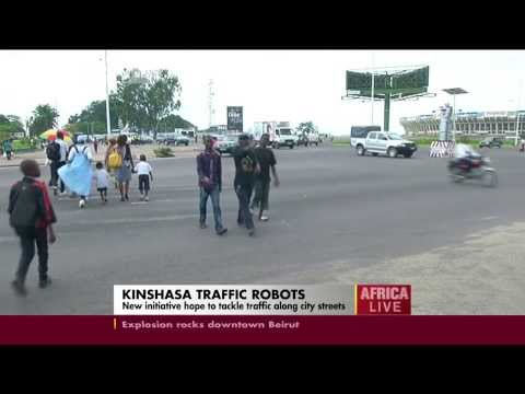 Kinshasa traffic robot cops hope to tackle traffic along city streets