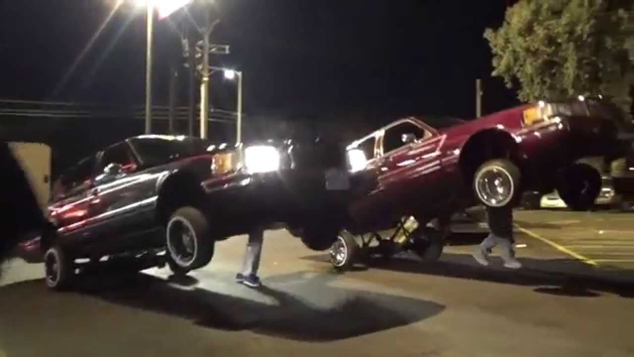 Lincoln Lowriders Hittin Switches By Mancavetv Town Car Lowrider Black