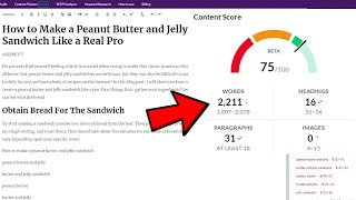 Surfer SEO Content Editor Tutorial  How to get 1st Place on Google