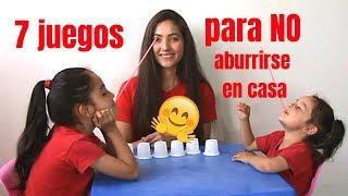 7 JUEGOS DIVERTIDOS para NO ABURRIRSE en CASA   IDEAS para NIÑOS