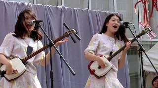 葵と楓@かっぱ橋商店街ステージ「潮来笠」「ソーラン節」