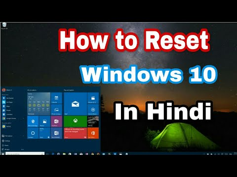 How do you reset your computer to factory settings windows 10