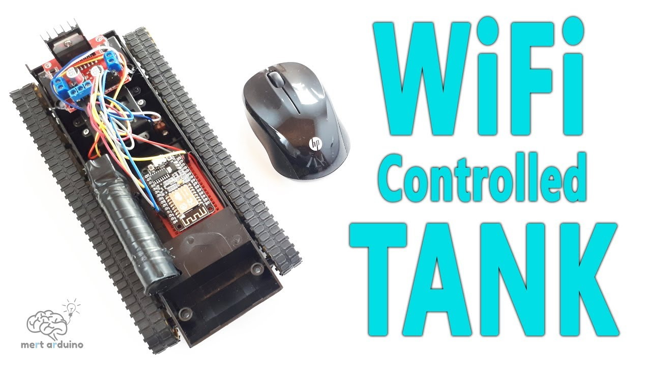 How to Make esp8266 WiFi Controlled Tank | NodeMCU esp8266-12E