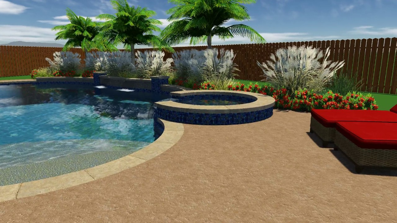 White Pool Design by Backyard Amenities - YouTube