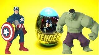 Avengers Captain America Surprise Egg Unboxing