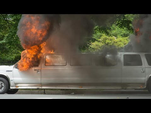 Halifax couple's limo goes up in flames on wedding day