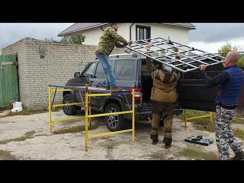 Багажник на УАЗ Патриот АКПП с рейлингами.