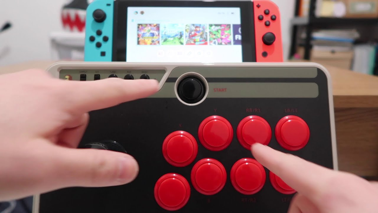 How To Connect 8bitdo N30 Arcade Stick To Nintendo Switch  L O G 07:42 HD
