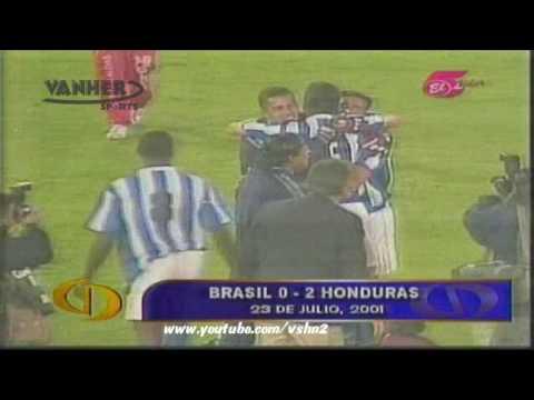 Honduras vs Brasil 2-0 Cuartos de Final Copa America 2001