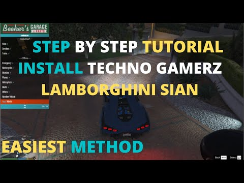 HOW TO INSTALL BASIC MENYOO MOD AND TECHNO GAMERZ LAMBORGHINI SIAN  | STEP BY STEP EASIEST METHOD