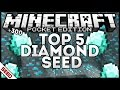 0.15.0/0.16.0 TOP 5 DIAMOND SEED +300 ORES! MINECRAFT POCKET EDITION