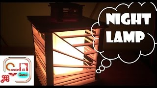 How To Make A Night Lamp Handmade -  Made Out Of Popsicle Sticks
