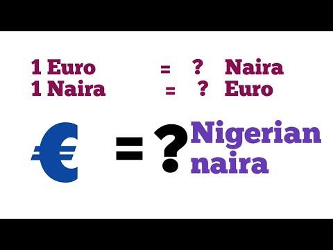 Euro To Naira L Euro To Nigerian Naira L Naira To Euro Exchange Rate Today