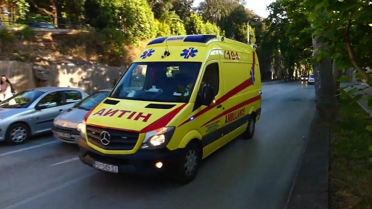 [Defektes Blaulicht] Mercedes Sprinter RTW Abteilung für Notfallmedizin Istrische Gespanschaft Pula
