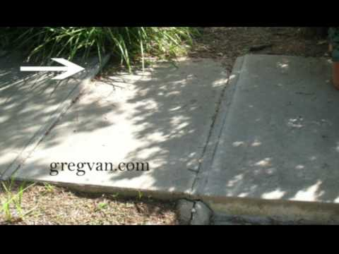 Concrete sidewalk rotted wood repairs home repair advice for Concrete advice