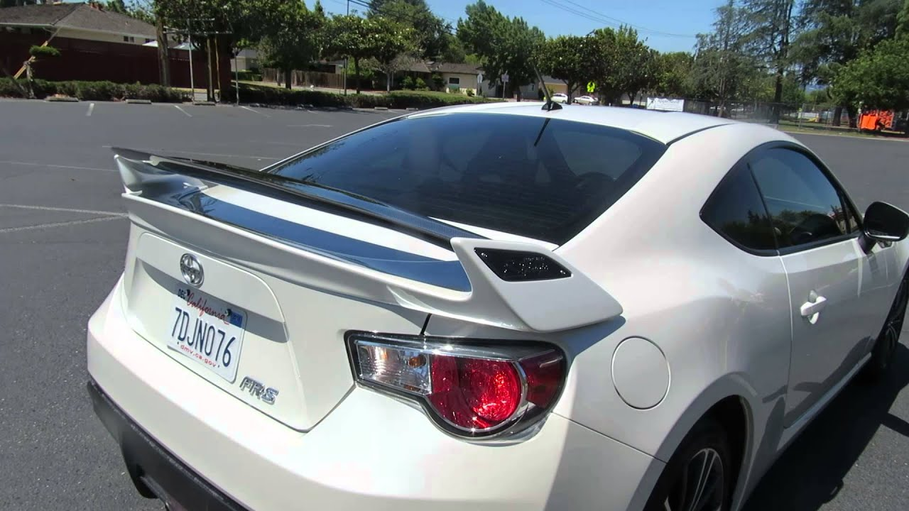 Scion Fr S 2014 R Magic Rear Spoiler Type C Carbon Youtube
