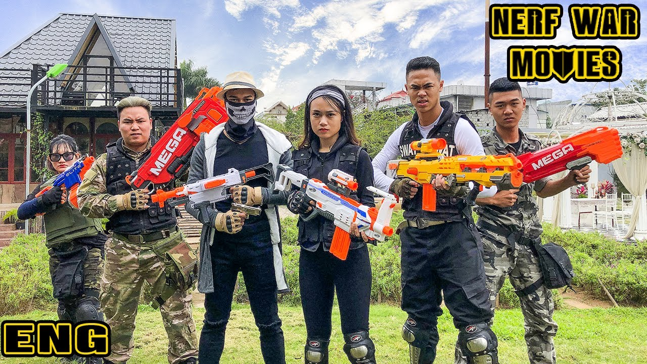 Nerf War Movies: Squad Spider X Warriors Nerf Guns Fight Crime Group Destroy The Monsters