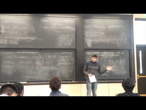 MIT 6.854 Spring 2016 Lecture 17: Multiplicative Weights and Zero Sum Games