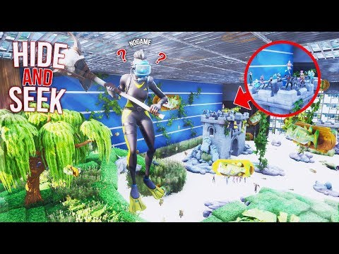 *NEW* EPIC HIDE AND SEEK INSIDE A FISH TANK ON FORTNITE!!!! (Fortnite Creative)