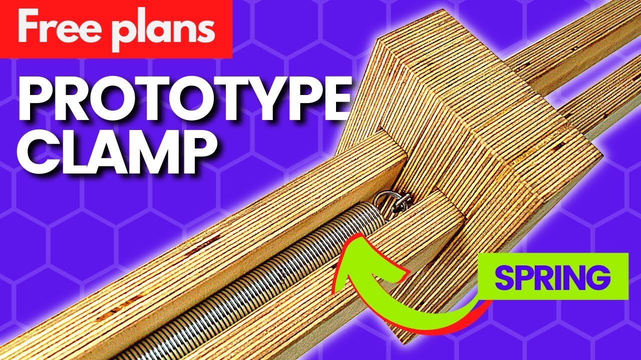 Prototype: The Stretchy Clamp | A new type of clamp for the workshop | FREE PLANS