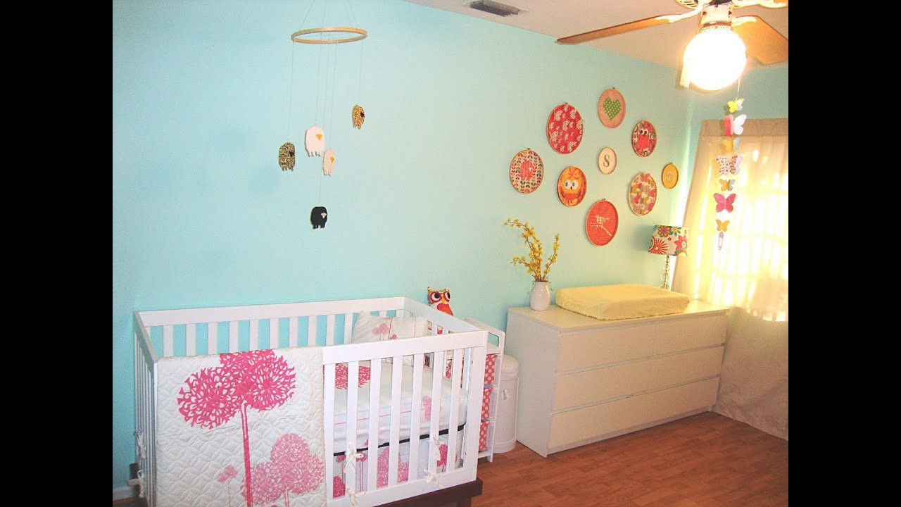 Best baby room ideas unisex youtube for Stickers pared baratos