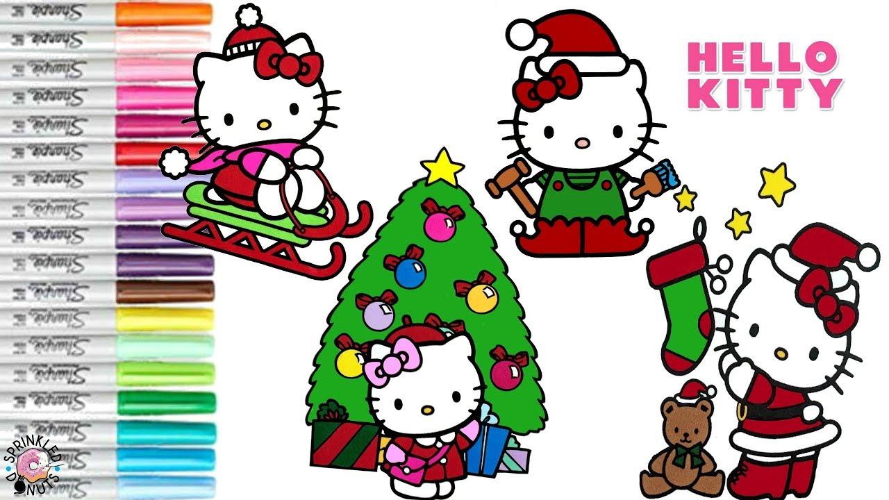Hello Kitty Coloring Book Compilation Christmas Coloring Book Sanrio ...